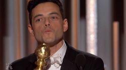 Le baiser de Rami Malek à Freddie Mercury lors des Golden