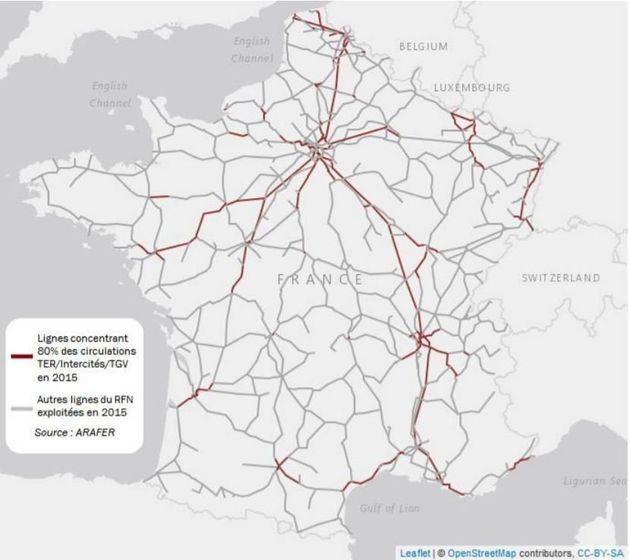Ces lignes SNCF peu fréquentées dont le rapport Spinetta préconise la fermeture près de chez