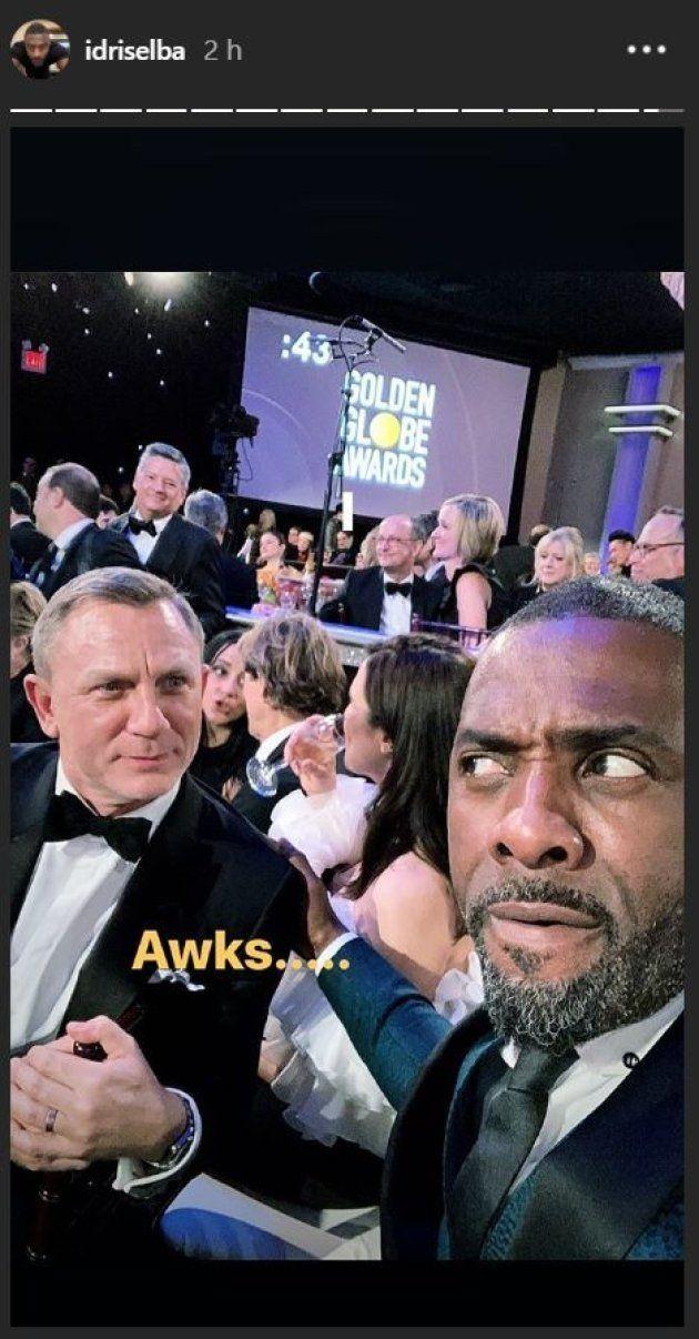 Daniel Craig et Idris Elba se sont lancés de drôles de regards aux Golden Globes