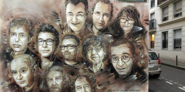 Quatre ans après l'attentat de Charlie, l'artiste C215 a réalisé une nouvelle fresque en hommage aux