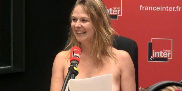 """Sur France Inter, Constance se met seins nus pour dénoncer les """"puritains moralisateurs"""""""