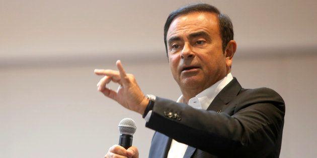 Carlos Ghosn au CES 2018 à Las Vegas, le 9
