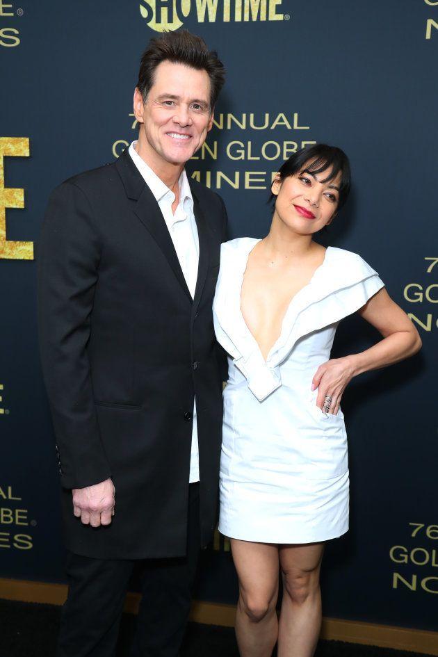 Jim Carrey et Ginger Gonzaga lors de leur première apparition officielle, ce 5 janvier à