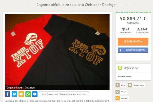 Une cagnotte pour le boxeur Christophe Dettinger dépasse 100.000