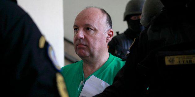 Christophe Naudin au tribunal de Saint-Domingue, en juin