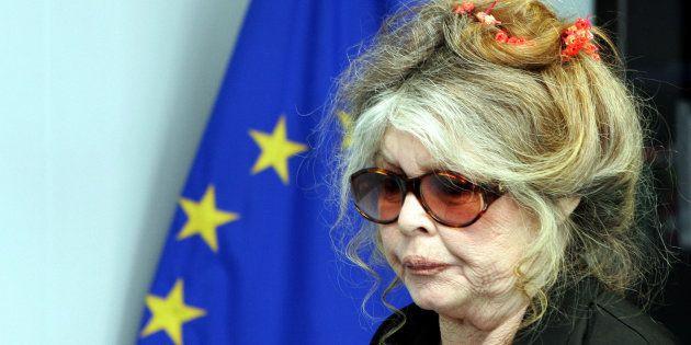 Brigitte Bardot à la Commission européenne de Bruxelles, le 9 juin
