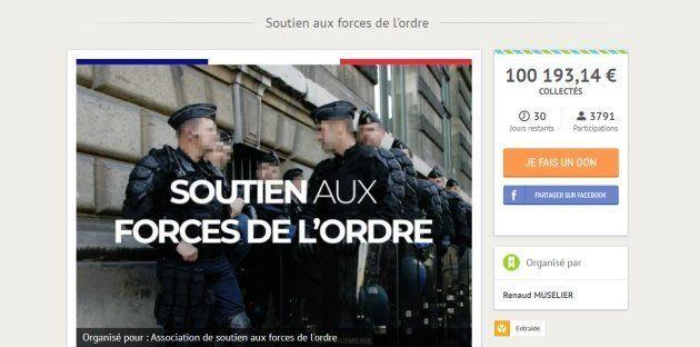 En seulement quelques heures, la cagnotte de soutien aux policiers blessés lors des manifestations des...