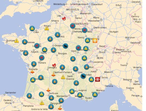 Info Trafic: Bison Futé annonce du noir et du orange pour ce week-end de départs en