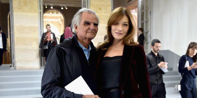 Patrick Demarchelier et Carla Bruni au défilé Dior à la Fashion Week de Paris, en