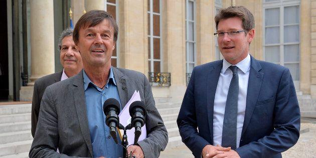 Nicolas Hulot, à l'époque envoyé spécial du président Hollande pour la protection de la Planète et Pascal...
