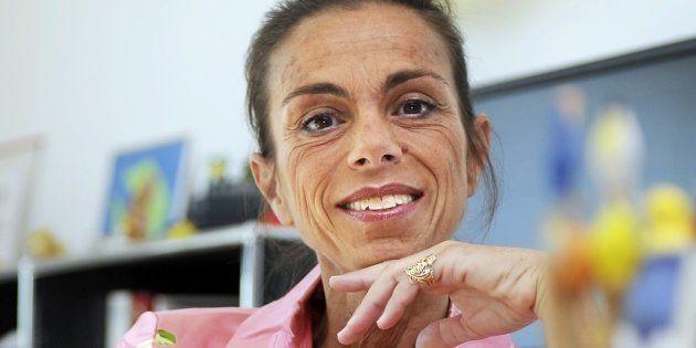 Agnes Saal, dans son ancien bureau de présidente de l'INA en juillet