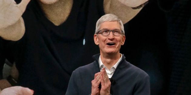 Apple CEO Tim Cook speaks during an event to announce new products Tuesday Oct. 30, 2018, in the Brooklyn...