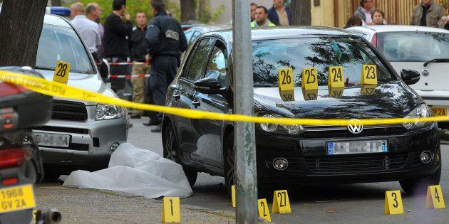 La scène de l'assassinat de Antoine Nivaggioni, tué le 8 octobre