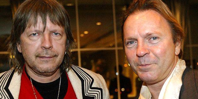 Renaud en compagnie de son grand-frère Thierry Séchan, décédé à l'âge de 69