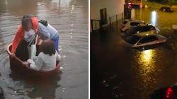 Des pluies ont provoqué d'impressionnantes inondations au