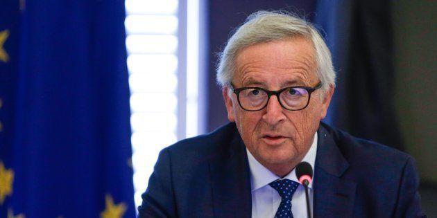 Jean-Claude Juncker à Genval en Belgique le 30 août