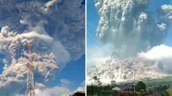 L'éruption de ce volcan a provoqué un immense nuage de