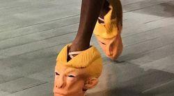 Cette paire de chaussures Trump a fait sensation à la Fashion Week de