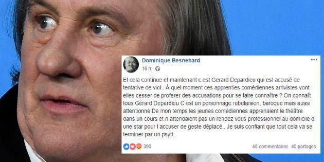 Gérard Depardieu à Berlin le 19 février 2016 et le tweet de Dominique