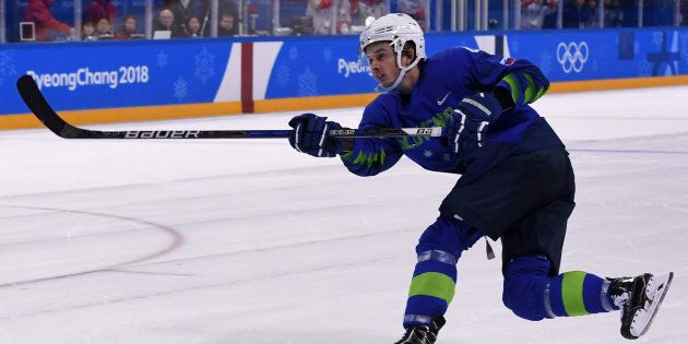 JO de Pyeongchang 2018: Ziga Jeglic, hockeyeur slovène, contrôlé