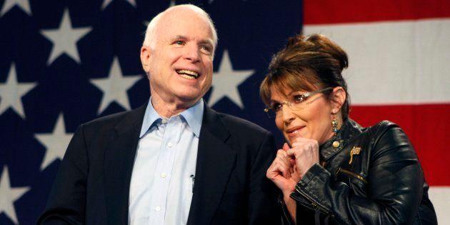 Aux obsèques de John McCain, Sarah Palin son ex-colistière, n'a pas été