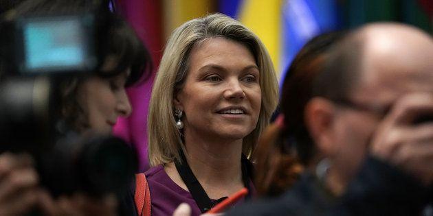 Heather Nauert, la porte-parole du département d'État