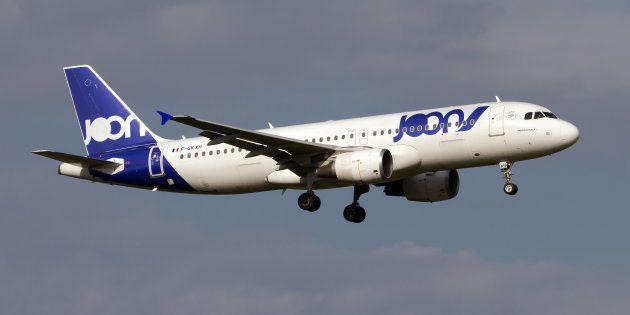Un Airbus A320 de Joon atterrissant à Rome en septembre
