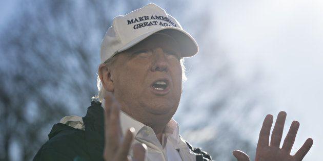 Donald Trump à la Maison Blanche à Washington le 10 janvier