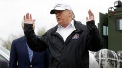 À la frontière, Trump assure qu'il n'a pas demandé au Mexique de faire un chèque pour son mur. Sauf