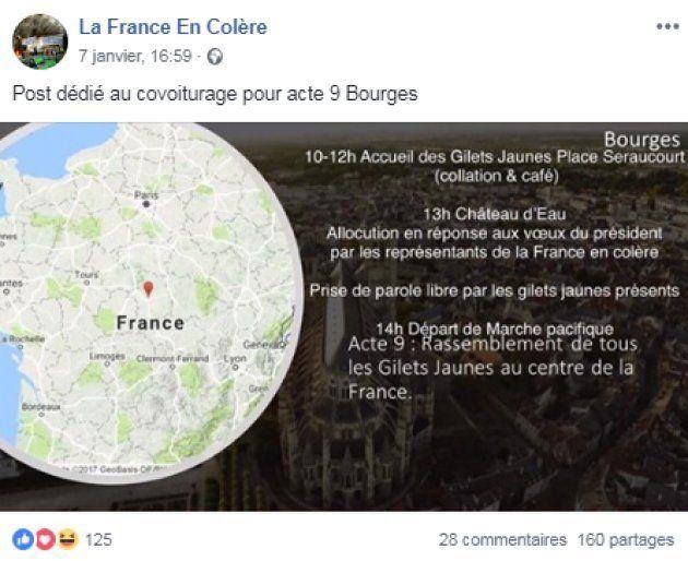 Les gilets jaunes tentent de s'organiser pour Bourges (et c'est