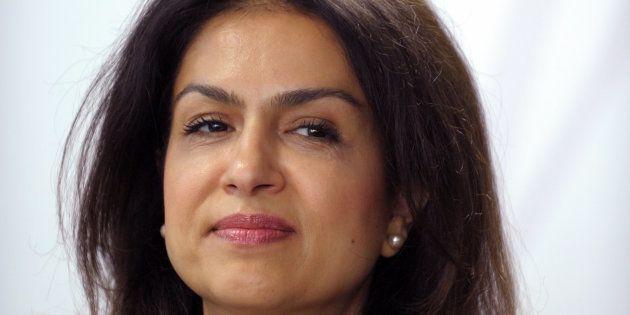 Mouna Sepehri à l'aéroport d'Orly le 17 mai