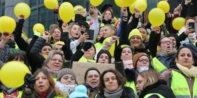 Ces trois nouvelles actions montrent que les gilets jaunes veulent se renouveler (photo prise le 6 janvier...