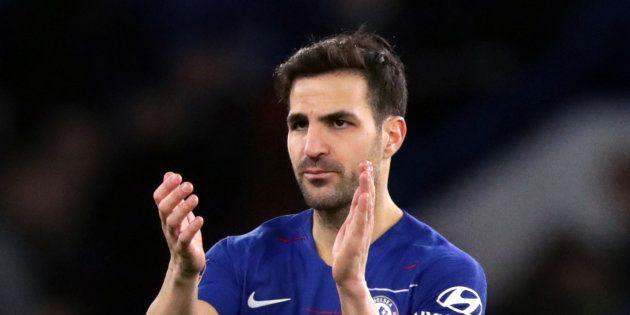 Cesc Fabregas sous le maillot de Chelsea durant la première partie de la saison