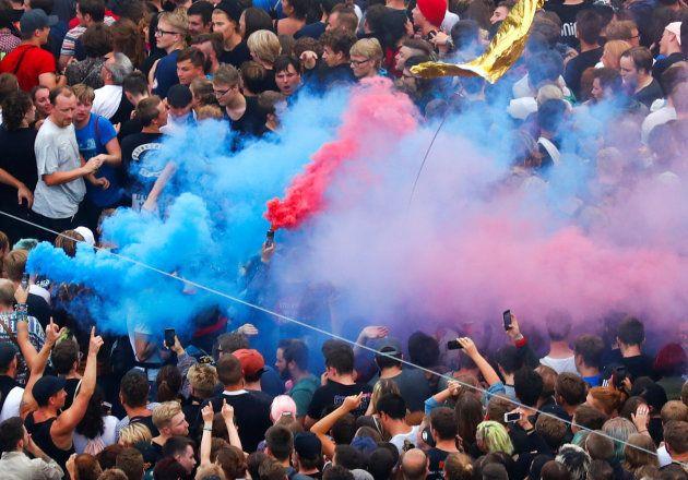 Chemnitz: Les images de la foule monstre venue communier contre l'extrême