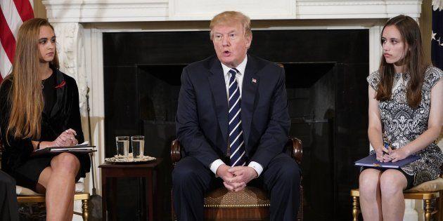 Donald Trump à la Maison Blanche le 21 février