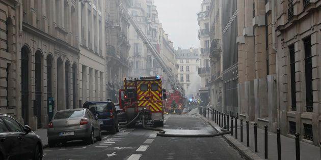 Explosion à Paris: des immeubles pourraient être détruits (Photo prise le 12 janvier