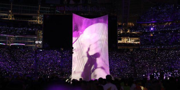 Justin Timberlake assurant le show à la mi-temps de la finale du dernier Super Bowl, le 4 février