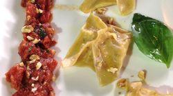 """""""Ma recette, vite fait, bien fait, des raviolis aux crevettes, sauce tomate aux"""