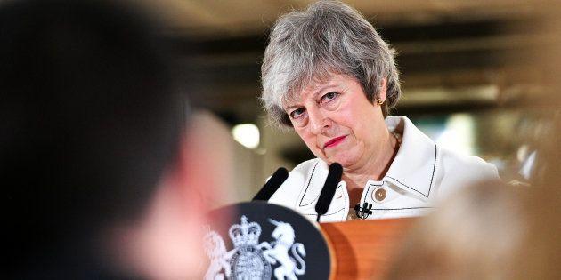 Dans une lettre, l'UE indique à May que l'accord sur le Brexit n'est pas négociable (photo prise le 14...