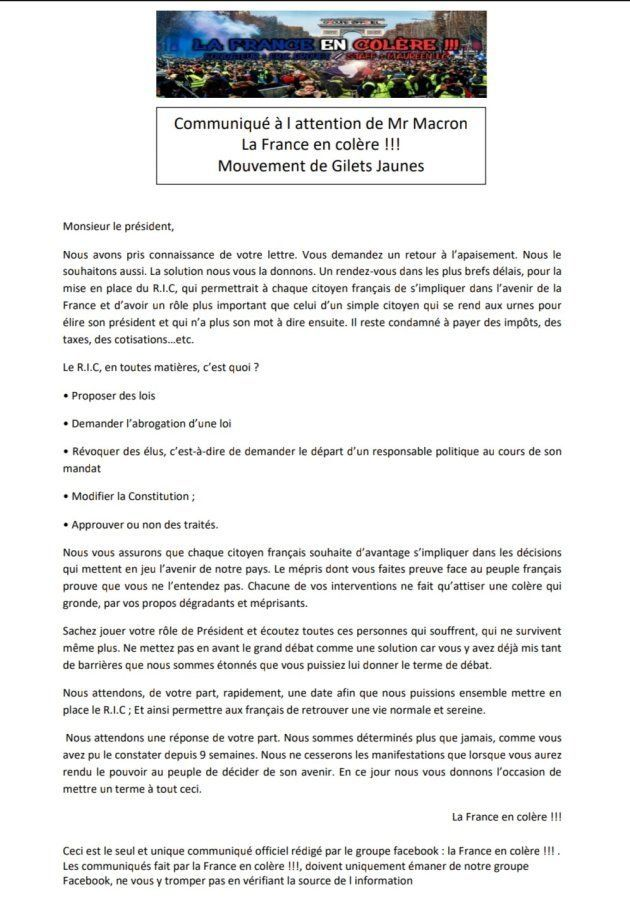 Éric Drouet n'a qu'une réponse à la lettre de Macron: le