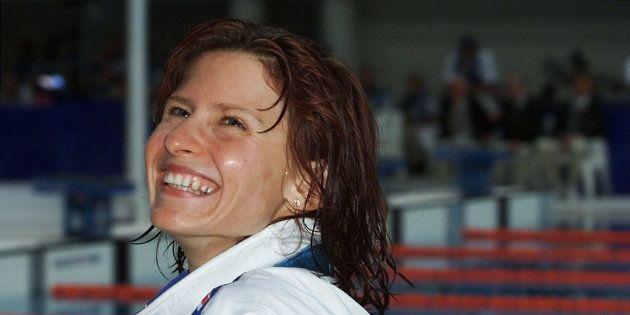 La nageuse Roxana Maracineanu aux jeux olympiques de Sydney, en