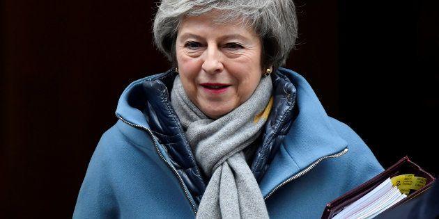 Theresa May le 9 janvier 2019, à l'approche du vote sur le