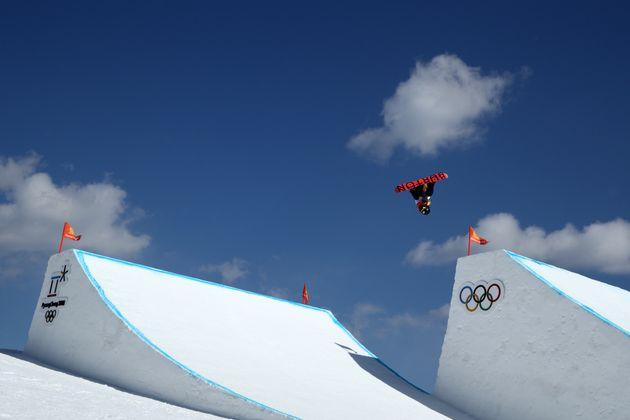 PYEONGCHANG-GUN, SOUTH KOREA - FEBRUARY 12: Yuka Fujimori of Japan competes in the Snowboard Ladies'...