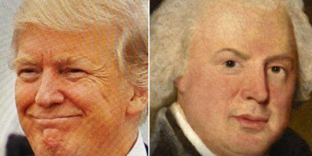Google trouve le tableau célèbre auquel vous ressemblez. Pour Donald Trump, c'est au compositeur anglais...