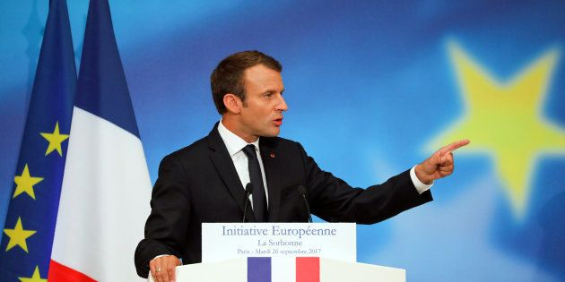 Emmanuel Macron, ici lors de son discours à la Sorbonne en septembre 2017, n'en a pas fini de