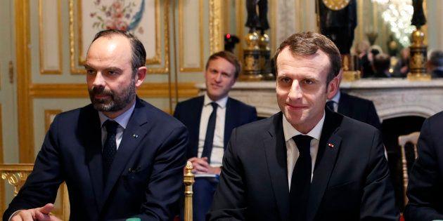 Édouard Philippe et Emmanuel Macron à l'Élysée le 10 décembre