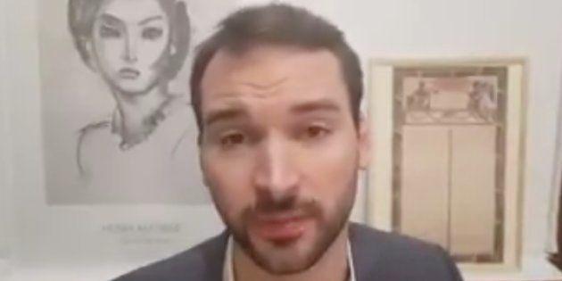 Ugo Bernalicis, expliquant dans une vidéo vouloir porter plainte contre Christophe