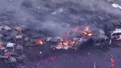 Le typhon Jebi laisse des centaines de voitures calcinées derrière