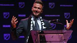 David Beckham dévoile le logo et le nom de son club aux
