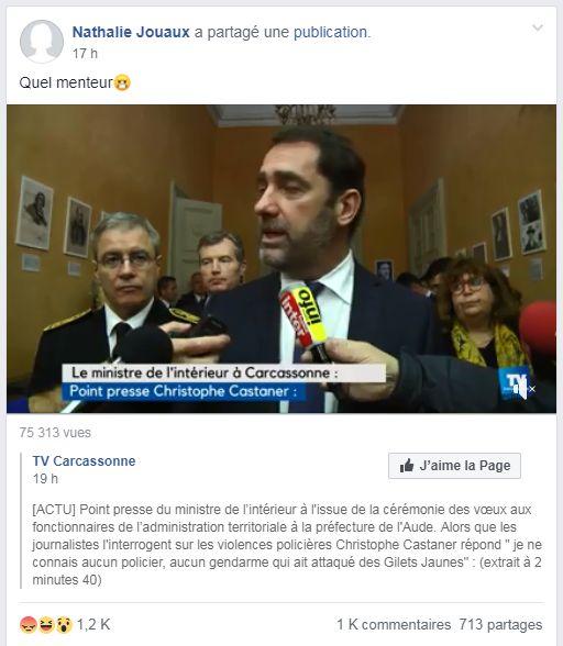 Ces gilets jaunes sont ulcérés par la déclaration de Christophe Castaner sur les violences
